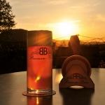 Bier-Sonnenuntergang